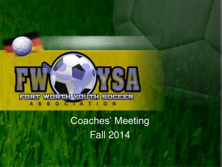Coaches' Meeting Fall 2014