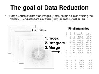 The goal of Data Reduction