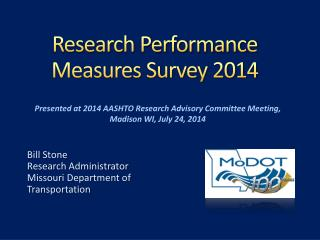 Research Performance Measures Survey 2014