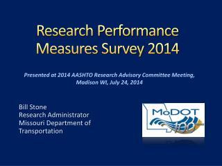 Research Performance Measures Survey 2014