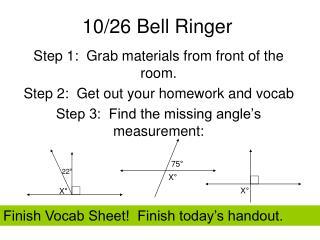 10/26 Bell Ringer