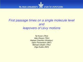 Processes on the level of a single molecule