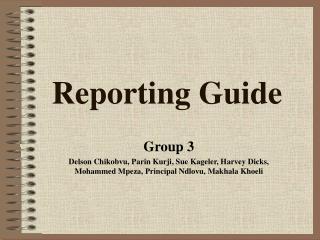 Reporting Guide