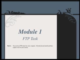 Module 1 FTP Task