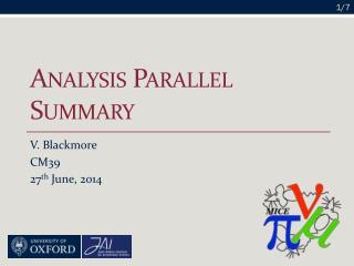 Analysis Parallel Summary