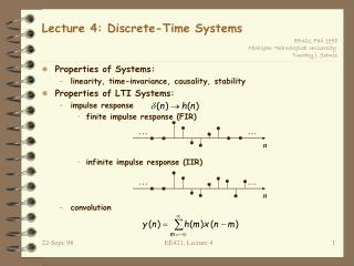 Lecture 4: Discrete-Time Systems