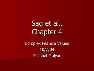 Sag et al.,  Chapter 4