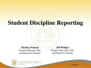 Student Discipline Reporting