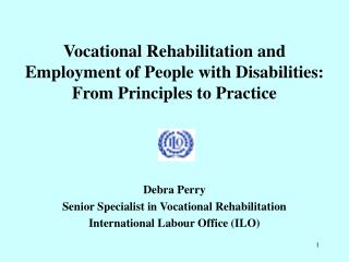 Vocational Rehabilitation and Employment of People with Disabilities: From Principles to Practice