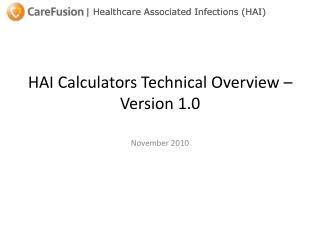 HAI Calculators Technical Overview � Version 1.0