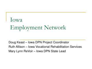 Iowa  Employment Network