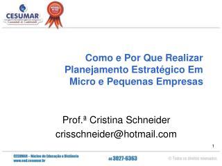 Como e Por Que Realizar Planejamento Estratégico Em  Micro e Pequenas Empresas