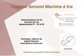 Logiciel Sonorel Machine à lire