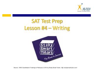 SAT Test Prep Lesson #4 – Writing