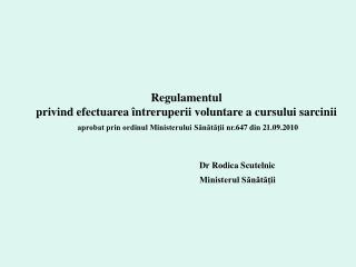 Dr  Rodica Scutelnic Ministerul Sănătăţii