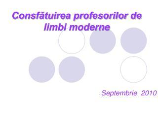 Consfătuirea profesorilor de limbi moderne