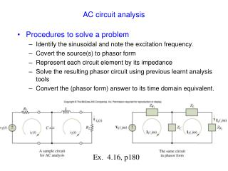 AC circuit analysis