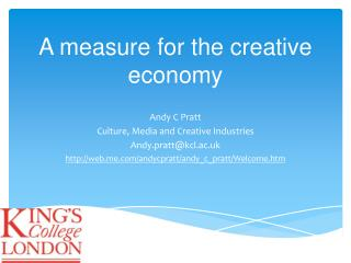 A measure for the creative economy