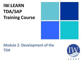 IW:LEARN TDA/SAP Training Course
