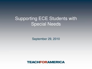 Supporting ECE Students with Special Needs