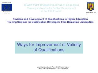 Ways for  I mprovement of  V alidity of  Q ualifications