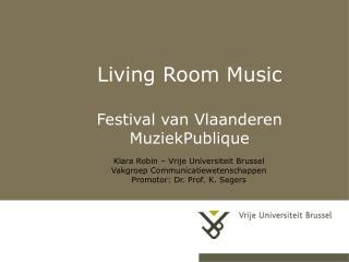 Living Room Music Festival van Vlaanderen MuziekPublique