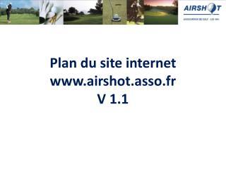 Plan du site internet airshot.asso.fr V 1.1