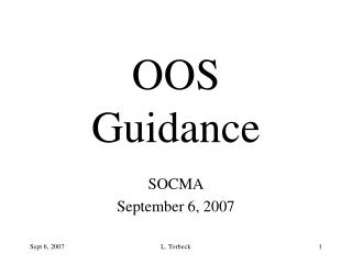 OOS Guidance