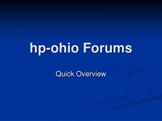hp-ohio Forums