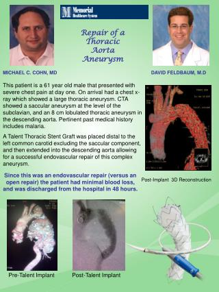 Repair of a Thoracic Aorta Aneurysm
