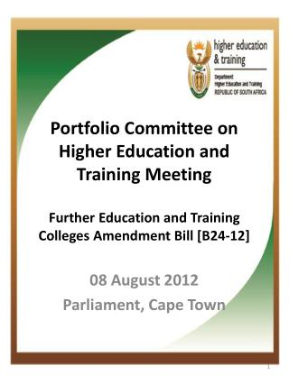 08 August 2012 Parliament, Cape Town