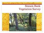 Stream Bank  Vegetation Survey