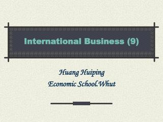 International Business (9)