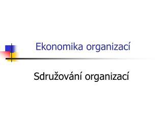 Ekonomika organizací