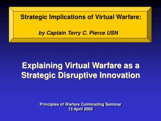 Strategic Implications of Virtual Warfare: