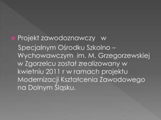 Projekt zawodoznawczy   w