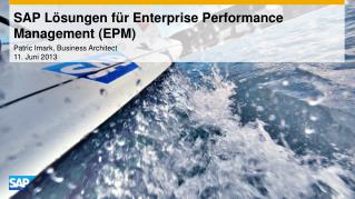 SAP Lösungen für Enterprise Performance Management (EPM)
