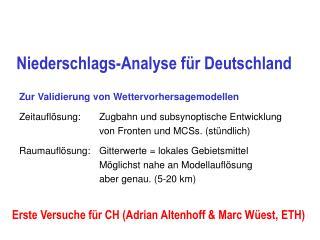 Niederschlags-Analyse für Deutschland