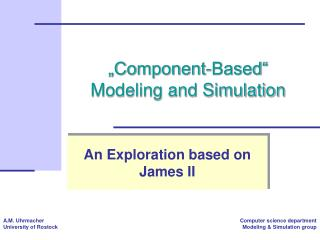 """Component-Based""  Modeling and Simulation"