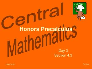 Honors Precalculus