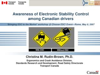 Awareness of Electronic Stability Control among Canadian drivers