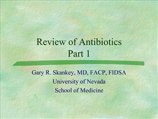 Review of Antibiotics Part 1