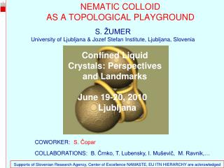 NEMATIC COLLOID  AS A TOPOLOGICAL PLAYGROUND