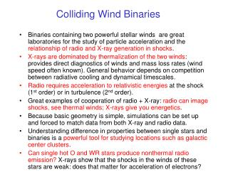 Colliding Wind Binaries