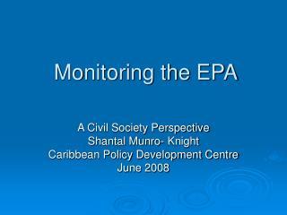 Monitoring the EPA
