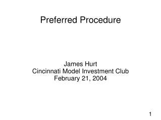 Preferred Procedure