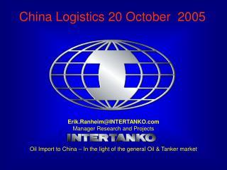 China Logistics 20 October  2005