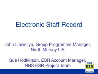 Electronic Staff Record