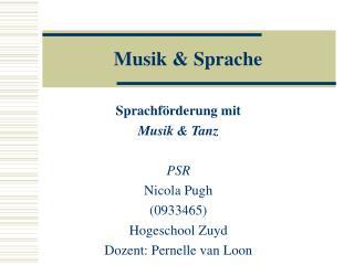 Musik & Sprache