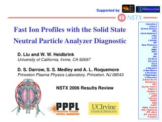 Fast Ion Profiles with the Solid State Neutral Particle Analyzer Diagnostic